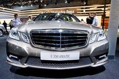 Grey car Mersedes E 350 Stock Photography