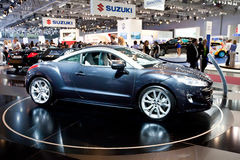 Grey car Peugeot RCZ Stock Photos