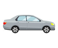 Grey car template on white background vector illustration