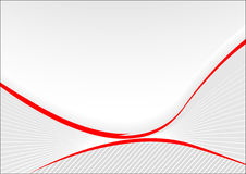 Grey card with red lines Stock Photography