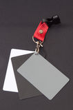 Grey card for white balance on the black background Stock Images