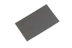 Grey card on white Stock Photos