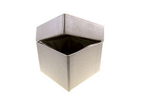 Grey cardboard box Royalty Free Stock Image