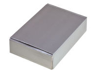 Grey cardboard box Royalty Free Stock Photo