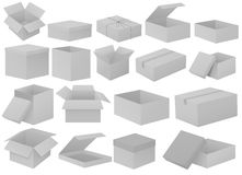 Grey cardboard boxes Royalty Free Stock Images