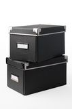 Grey cardboard storage box Royalty Free Stock Image