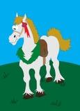 Grey cartoon horse. Collection of cartoon animals horse stock illustration