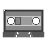 Grey cassette tape. Grey cassette  illustration flat icon style Stock Photos