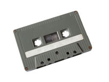 Grey cassette tape Stock Photography