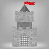 Grey Castle Stock Photography
