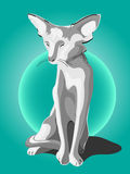 Grey cat royalty free illustration