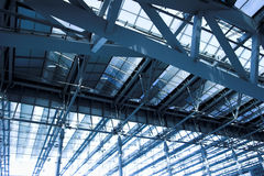 Grey ceiling of office building Royalty Free Stock Image