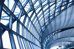 Grey ceiling of office building Royalty Free Stock Images
