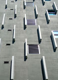 Grey cement facade of modern building Stock Images