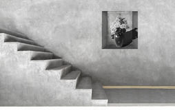 Grey cement room artistic.Monochrome of loft style. Stock Image
