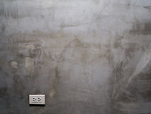 Grey Cement Wall. With Outlet Royalty Free Stock Photo