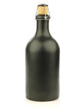 Grey ceramic beer bottle with a cork Royalty Free Stock Photos