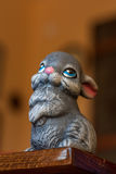 Grey ceramic rabbit Stock Photography