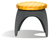 A grey chair with a round foam Stock Photography