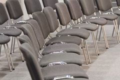 Grey chairs Royalty Free Stock Images