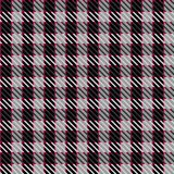 Grey check fabric. Illustration of tweed or tartan check fabric with seamless repeat background pattern Royalty Free Stock Photography