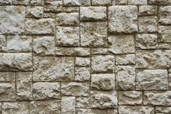 Grey Checkered Pattern Stone Wall Fotografie Stock