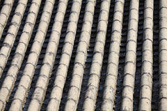 Grey Chinese temple roof Stock Images