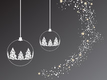 Grey christmas background. Vector illustration of christmasy elements Royalty Free Stock Images