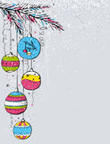 Grey christmas background,  Royalty Free Stock Image