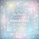 Grey  christmas background and sale label Stock Image