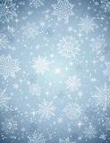 Grey christmas background with snowflakes and stars stock photos