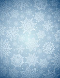 Grey christmas background with snowflakes and stars, vector Stock Image
