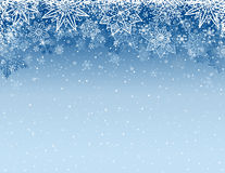 Grey christmas background with snowflakes and stars, vector. Illustration Royalty Free Stock Photos
