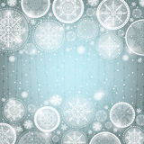 Grey christmas background with snowflakes Royalty Free Stock Photography
