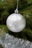 Grey Christmas bauble Stock Images
