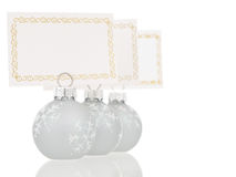 Grey Christmas place cards holders inline view Stock Photo