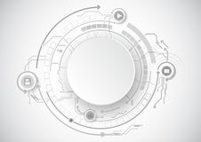 Grey Circle Circuit Icon Technology illustrazione vettoriale