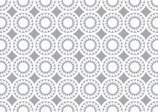 Grey Circle Kaleidoscope Pattern Background voor Behang Royalty-vrije Stock Afbeeldingen