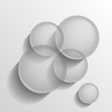 Grey circles group Stock Image