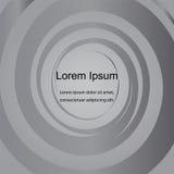 Grey Circles Pattern, fondo astratto Modello per le etichette, le insegne, i distintivi, i manifesti, gli autoadesivi e le azioni Fotografia Stock Libera da Diritti