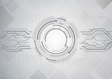 Grey Circuit Technology Background Illustration Stock