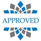 Grey Circular blu approvato Immagine Stock