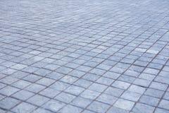 Grey city pavement Stock Photography