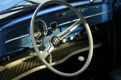 Grey Classic Car Steering Wheel Stock Photos