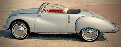 Grey Classic Convertible Coupe Royalty Free Stock Images
