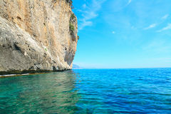 Grey cliff in Orosei Gulf Stock Photos