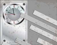 Grey clock background Stock Photography