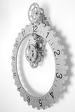 Grey clock with gears Stock Photography