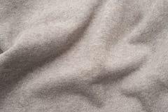 Grey Cloth Fabric Swatch arruffato fotografia stock