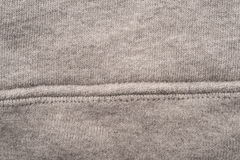 Grey Cloth Seam Swatch fotografia stock